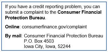 Consumer Financial Protection Bureau Contact